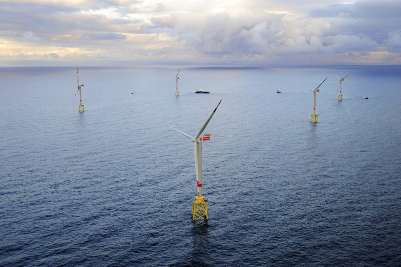 The first german offshore wind farm alpha ventus in the North Sea