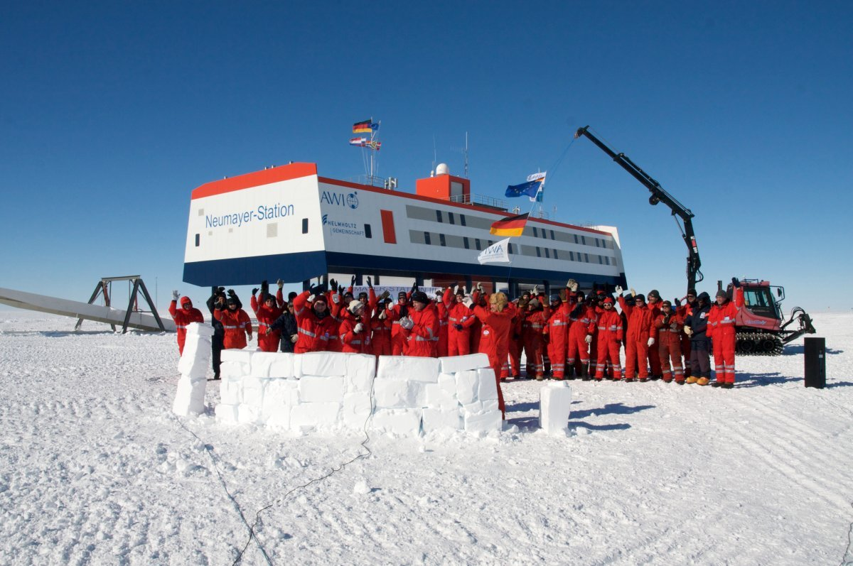 Polarforschung des AWI in der Neumayer Station (Antarktis)
